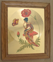 "Vintage 1970's Michelle Emblem Original Foil & Handpainted Art ""Poppy Nymph"" Sig - $3,000.00"