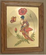 """Vintage 1970's Michelle Emblem Original Foil & Handpainted Art """"Poppy Ny... - $3,000.00"""
