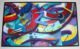 "RARE 1993 Sandra Ramsauer ""BLUE Z"" Original Abstract Painting - $4,249.50"