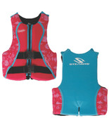 Puddle Jumper Youth Hydroprene Life Vest - Teal/Pink - 50-90lbs - $72.67