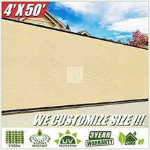 ColourTree 4' x 50' Beige Fence Privacy Screen Windscreen, Commercial Gr... - $64.34