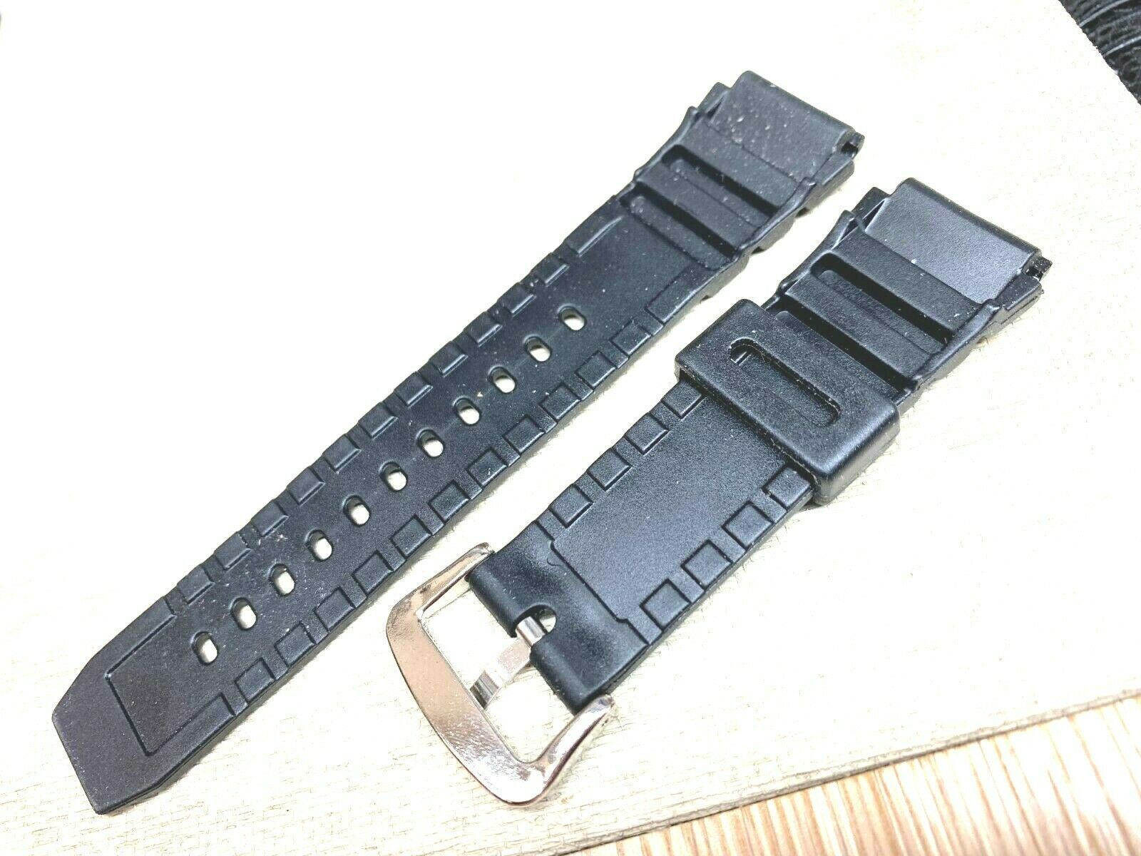 PVC Plastic sports scale water resistant watch band 20mm For Timex