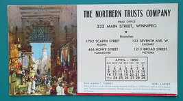 NORTHERN TRUST CO Winnipeg + Rug Market in Turkey -  April 1950s INK BLO... - $7.19