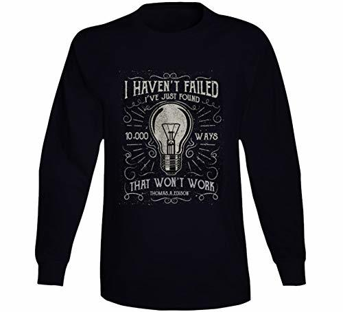 Tremendous Designs I Havent Failed Long Sleeve T Shirt 2XL Black