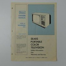 Sears Portable Color Television Owners Manual Model 562.40330250 - $15.83