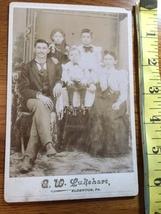 Cabinet Card Mom & Dad & Three Good Looking Kids Elderton, PA 1860-80! - $9.00