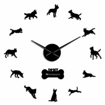 Malinois Police K9 Dog Large DIY Wall Clock German Shepherd Dog's Lover ... - $32.94+