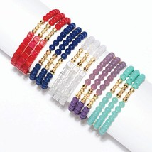 Avon Spring Fling Stretch Bracelet in White - $9.99