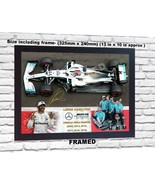 NEW Lewis Hamilton 6 TIME WORLD CHAMPION signed poster photo print F1 FR... - $23.60