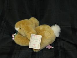 """Russ Jumper Stuffed Plush Bunny Rabbit Flower # 291 Brown Tan 7"""" New - $14.25"""