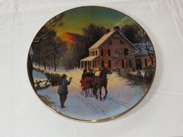 Home for the Holidays 1988 Christmas Plate Porcelain 22 k gold trim Avon... - $16.33