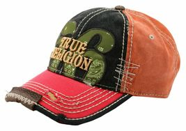 True Religion Men's Premium Cotton Vintage Distressed Trucker Hat Cap TR1690 image 3