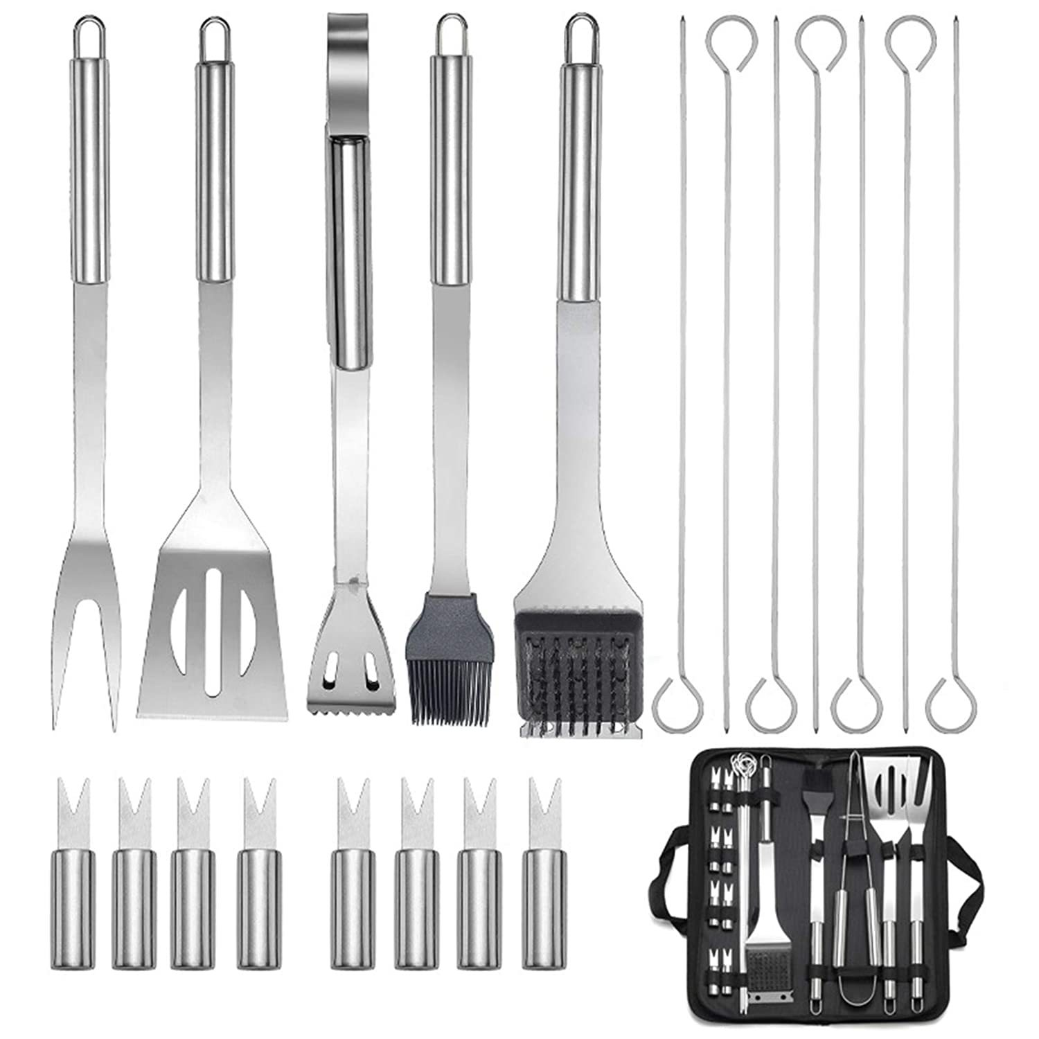 20Pcs Barbecue Tool Set Suitable For Giving And Outdoor Camping And Picnics - £24.71 GBP