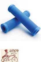 FREE AGENT SHROOM XL BRIGHT BLUE FLANGELESS BICYCLE GRIPS - $8.90