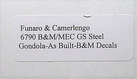 Funaro & Camerlengo HO B&M GS Steel Gondola as built Kit 6790 image 3