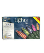 Holiday Time 100 Ct Indoor/Outdoor Multi Color Mini Lights Set Super Bright - $19.79