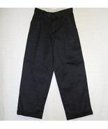 Van Heusen Black Dress Pants Patterned Cuffed Boys Size 8 - $5.69