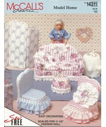 "Vintage McCall's #14211 Model Home Furniture Pattern for 11-1/2"" Barbie ... - $12.00"