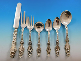 Lily by Whiting Sterling Silver Flatware Set 12 Service 90 pcs Antique Vintage - $10,995.00