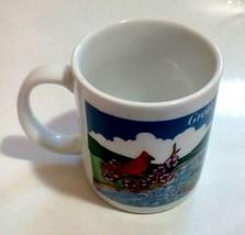 Great Smoky Mountains Coffee Mug Cup Cardinal Bears Wrap Around Design - $7.84