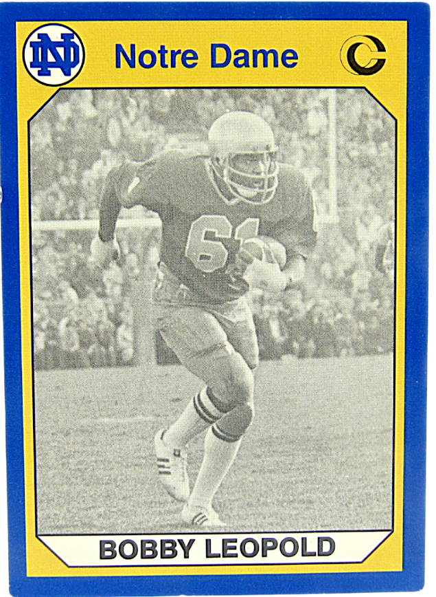 Primary image for 1990 Collegiate Collection Notre Dame Bobby Leopold Linebacker 1976-79