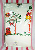 Vintage New Old Stock Christmas Woodland Animals Snowy Scene Paper Table... - $12.00