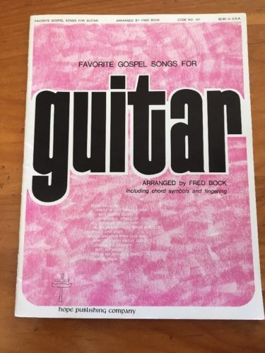 Favorite Gospel Songs For Guitar Book Fred Bock Chords Fingering 1960's 1970's