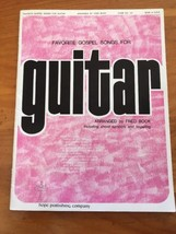 Favorite Gospel Songs For Guitar Book Fred Bock Chords Fingering 1960's ... - $14.99