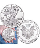 """4 Oz/ 3 1/2"""" Prooflike .999  silver round - replica of the American Eagle - $189.00"""