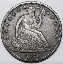 1877 Seated Silver Liberty Half Dollar 50¢ Coin Lot# MZ 4785