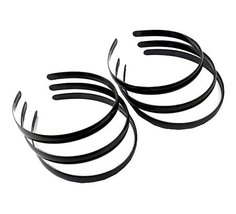 Beauty Hair,Unisex Black Spring Plastic Hoop Hair Band Head Accessory (6... - $11.34