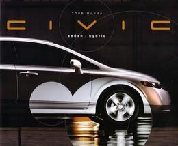 2006 Honda Civic Sedan Sales Brochure Catalog 06 Us Hybrid - $6.00