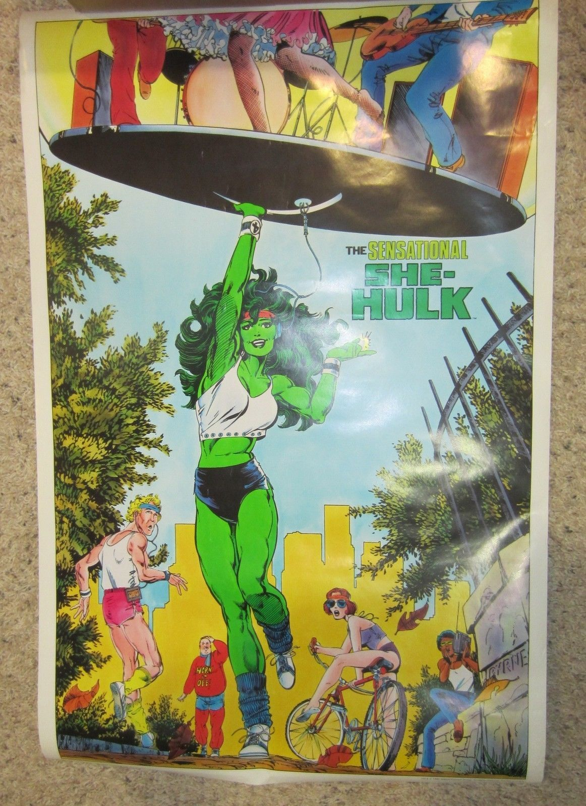 Primary image for VINTAGE THE SENSATIONAL SHE HULK POSTER - MARVEL COMICS