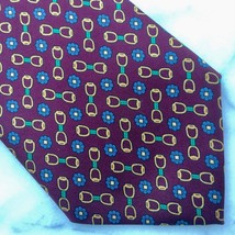 BROOKS BROTHERS 100% silk mens neck tie - NOS vintage burgundy horse bit short - $24.99