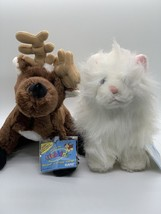 WEBKINZ Plush Persian Cat HM110 & Reindeer HM137 Stuffed Toys New Sealed... - $15.43