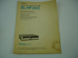 1984 Sony SL-HF300 Stereo VCR Operating Instructions Manual - $9.89