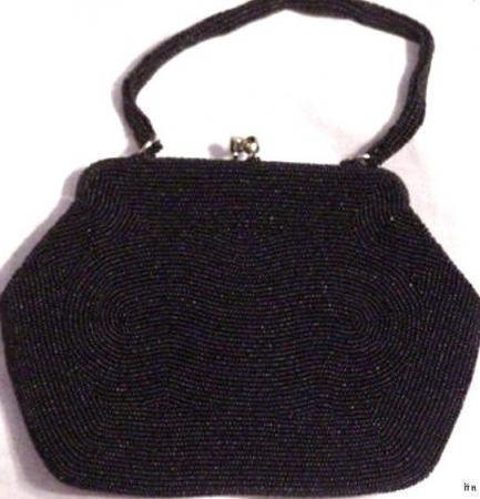 Vintage Black LA REGALE Handbag Purse made in Japan