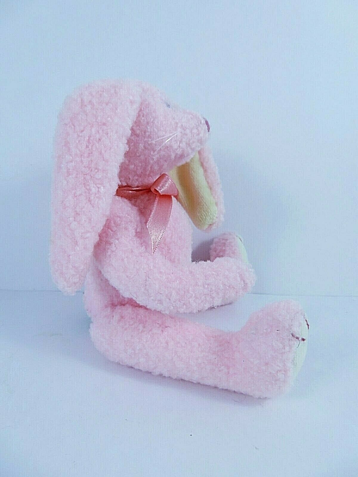 """Ty Collectibles Strawbunny Beanie Baby 1993 Attic Treasures 8"""" Pale Pink Rabbit"""