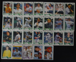 1990 Fleer Oakland Athletics A's Team Set of 26 Baseball Cards Missing 2... - $3.50