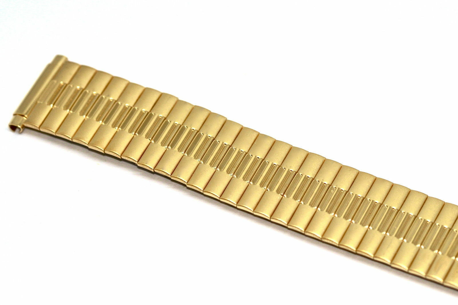 Primary image for 18-22mm Extra Long Gold Twist O Flex Expansion Watch Band Strap CHOOSE YOUR SIZE