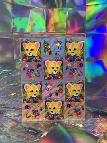 SALE⚡️S280 Lisa Frank Hunter Jungle Lion Geckos Sticker Sheet Full
