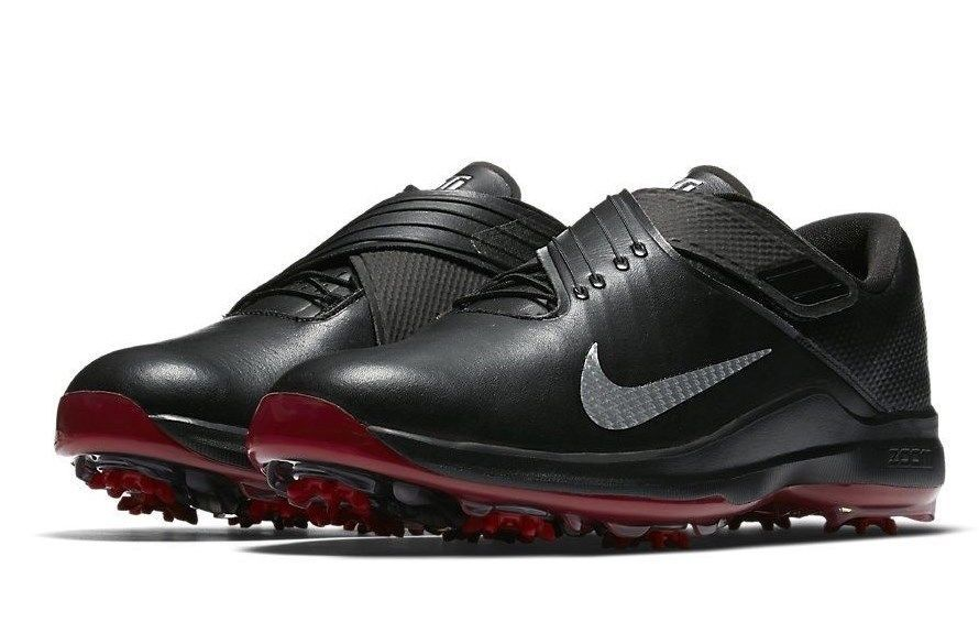 sports shoes 8d44f 15f79 NIKE TW  17 TIGER WOODS GOLF SHOES BLACK SILVER RED SIZE 9.5 NEW