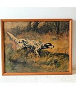 English Setter Pointer Hunting Dog Painting Percival Rosseau Reproductio... - $69.95