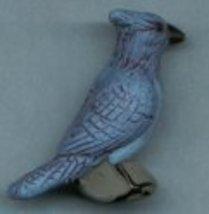 Ceramic Blue Jay Bead - $5.00
