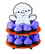 Wilton 1512-1678 Mummy 3-Tier Cupcake Treat Stand Halloween Tabletop Dec... - $29.69