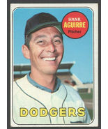 Los Angeles Dodgers Hank Aguirre 1969 Topps Baseball Card 94 vg/ex - $0.85