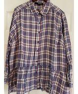 Womens Denim 24/7 Flannel Ruffle Bottom Size 24W NWT More like a size 20... - $10.00