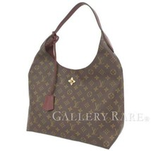 LOUIS VUITTON Flower Hobo Monogram Bordeaux Shoulder Bag Italy Authentic... - $1,718.93