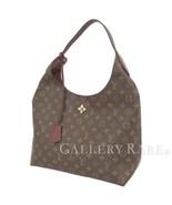 LOUIS VUITTON Flower Hobo Monogram Bordeaux Shoulder Bag Italy Authentic... - $1,718.93