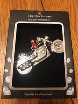"Swarovski Crystal Holiday Ornament ""Motorcycle"" Ships N 24h - $47.51"